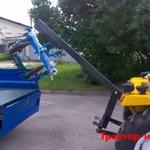 Устанавливаем кран на мини трактор