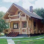 Деревянного дома из круглого бревна