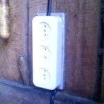 Подкладка для электрических розеток в деревянных строениях