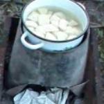 Как сделать печку из ведра?