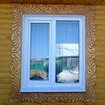 Новые окна в старый деревянный деревенский дом
