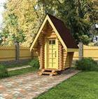 Строим дачный туалет из вагонки или имитации бруса